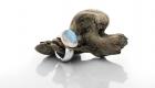 Labradoritring Cabochonschliff in 925 Silber mit 750 Roségold
